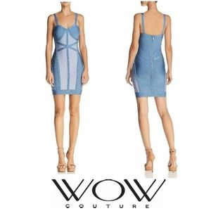 NWT WOW COUTURE Color Bloc Bandage Bodycon Dress
